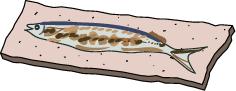 焼き魚(秋刀魚)*カラー
