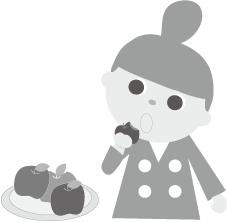 みらいちゃんとリンゴ