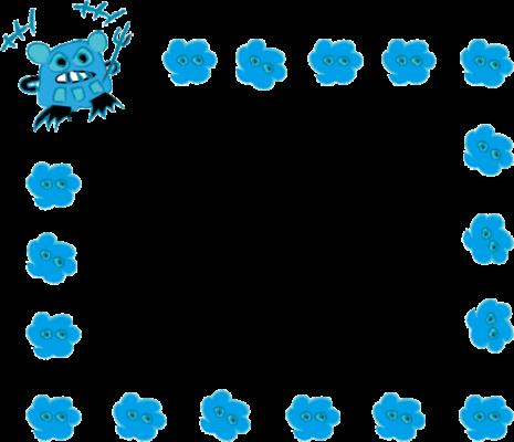 ブルーウイルスくん *カラー