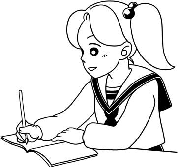 勉強中(笑顔)