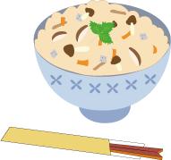 きのこご飯*カラー