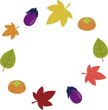 秋 囲み*カラー