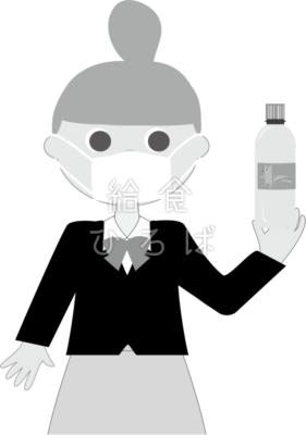 水分補給(マスク)
